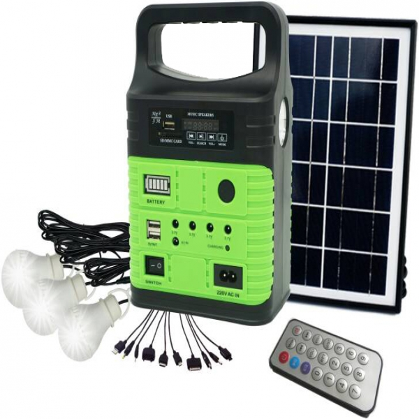 3 LAMPS SOLAR HOME LIGHT KIT WITH FM