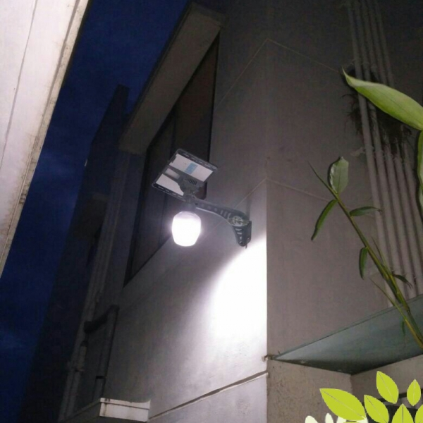 6 WATT SOLAR LED COURTYARD LIGHT WALL MOUNTED